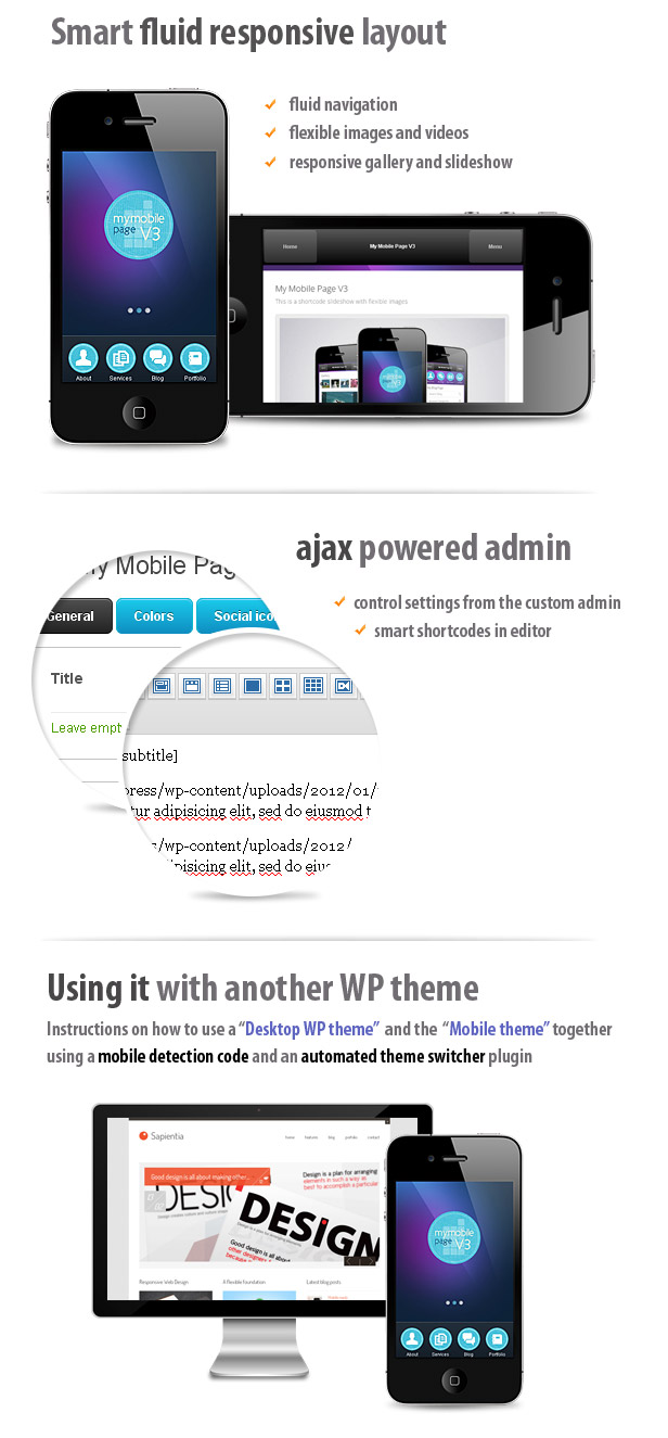 My Mobile Page V3 Wordpress Theme